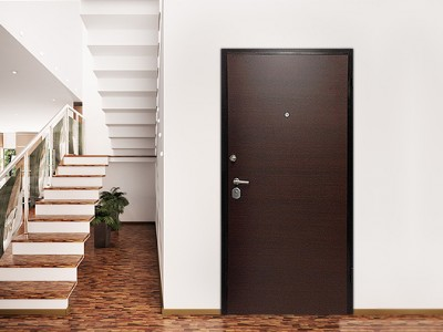Security doors for internal use with white paneling