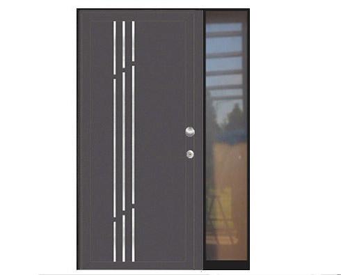 aluminijska protuprovalna vrata za kuću s bočnim fikserom