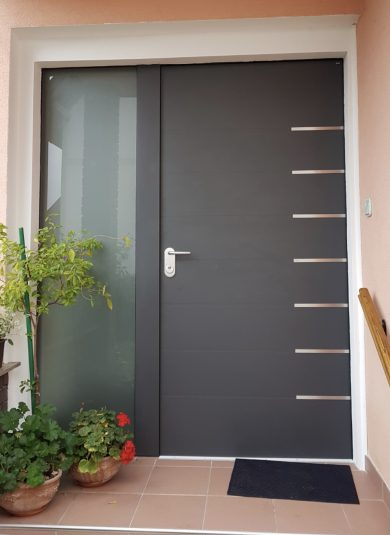 Safety entry doors