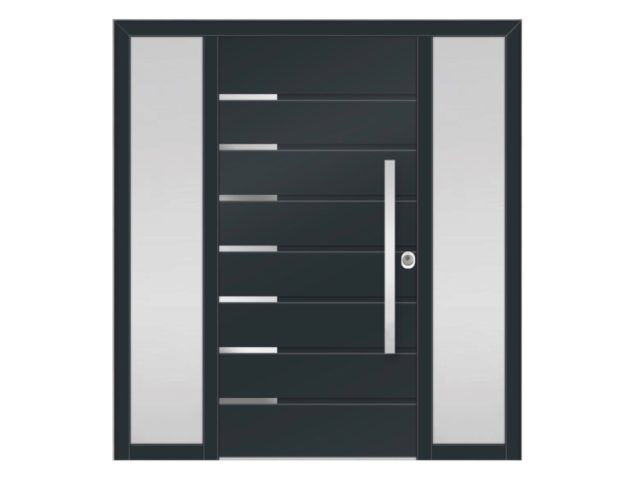 aluminijska protuprovalna vrata s 2 bočna fiksera
