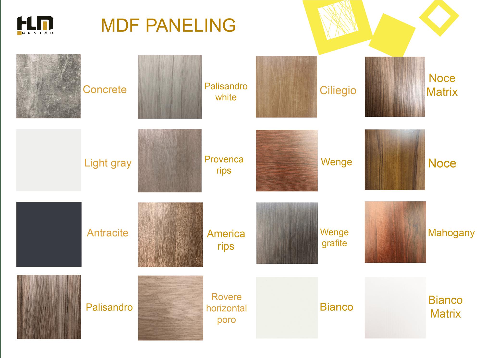 MDF panel
