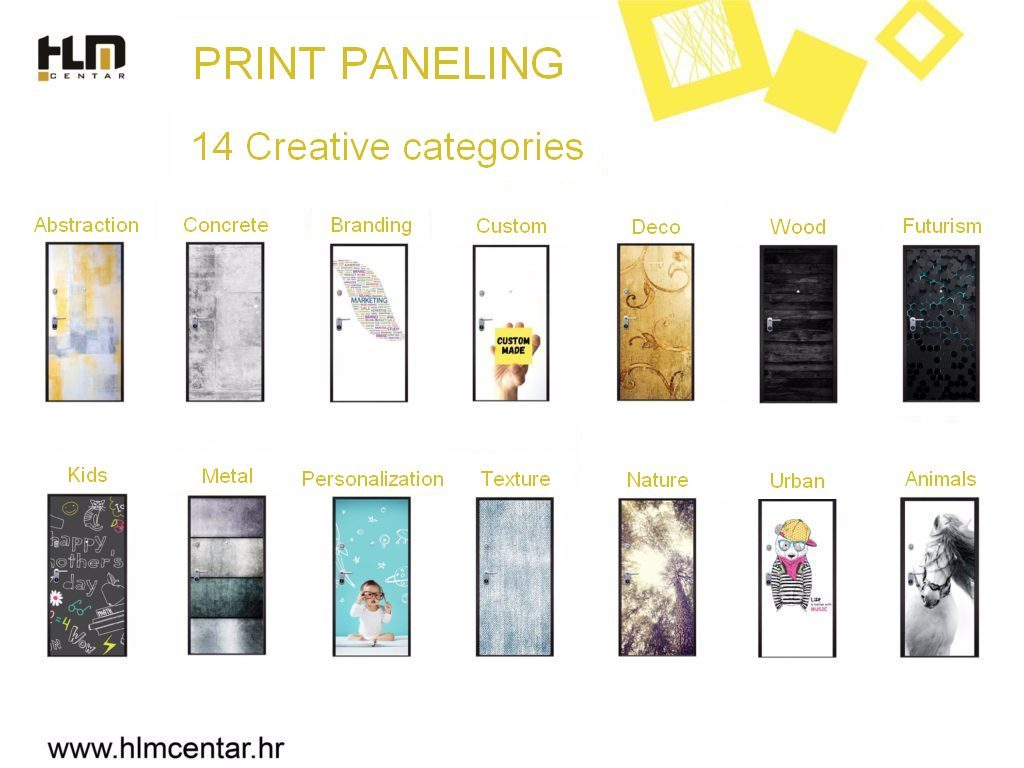 Creative PRINT paneling categories