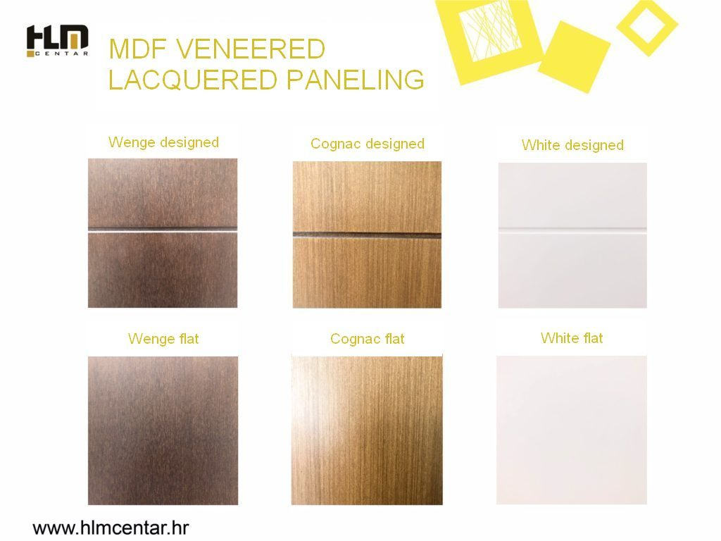 MDF veneered lacquered paneling options