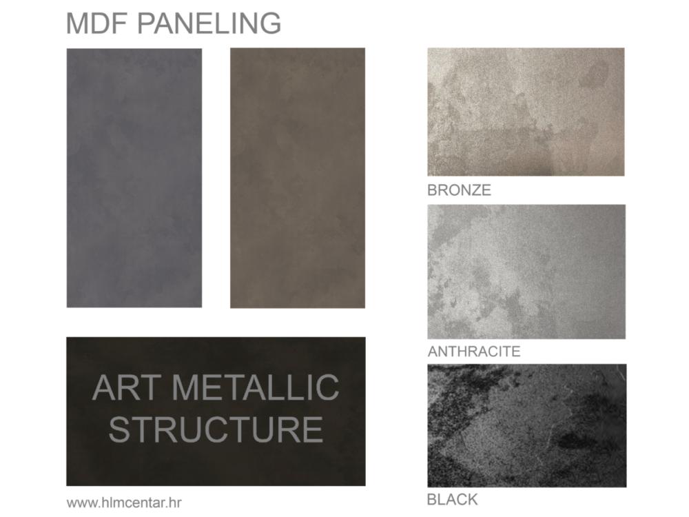 Paleta boja panela - Art metalik