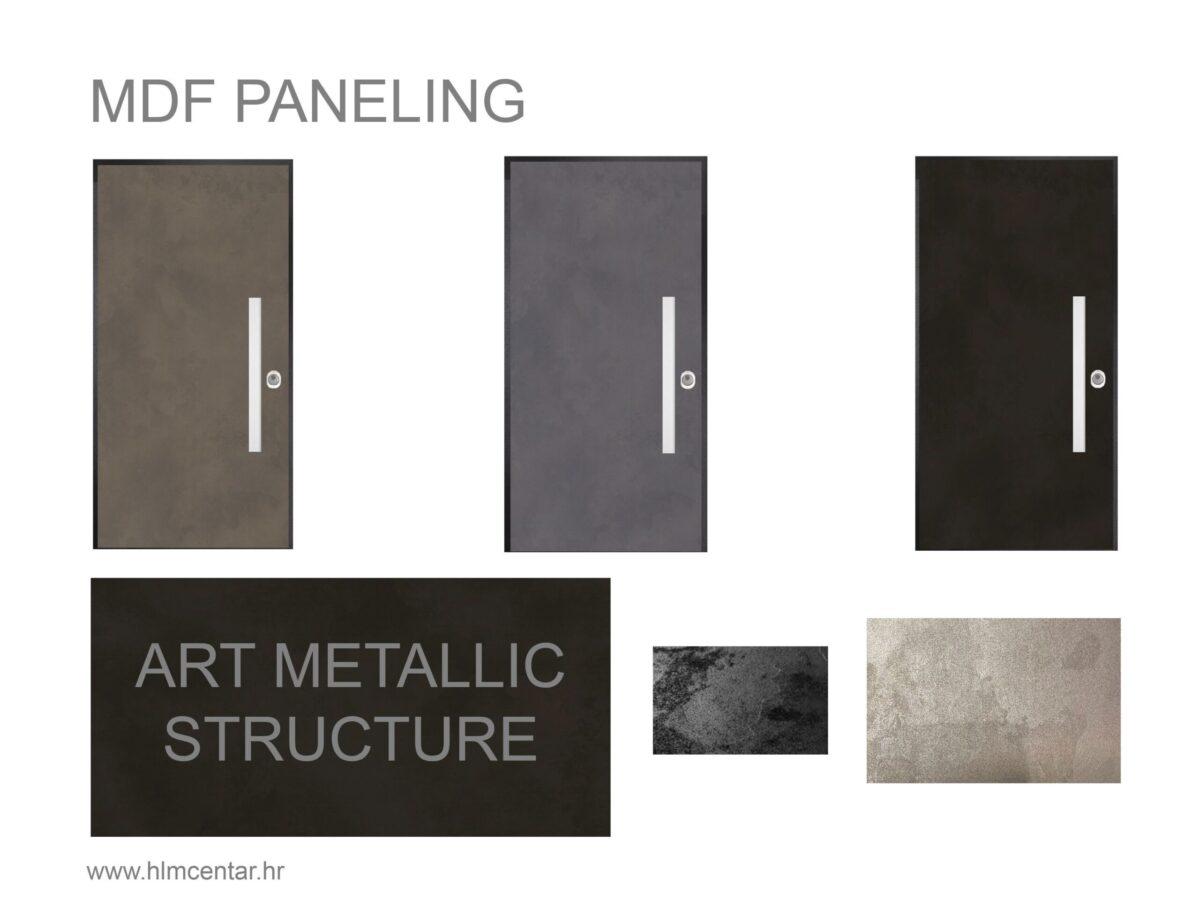 Paleta boja protuprovalnih vrata - Art metalik